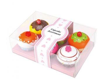 Lenin Dřevěná sada cupcake 6ks