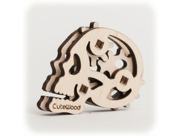 CuteWood Dřevěné 3D puzzle Lebka