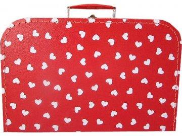 KAZETO Kufr SRDÍČKA červený velký kufřík