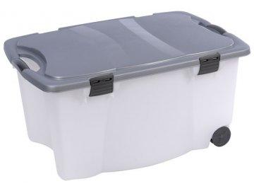 Úložný box pojízdný 100 l plastový 80x52x41 cm průhledný