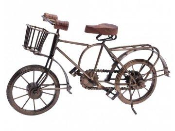 Dekorace stojící kovová Bicykl 36 cm měděná