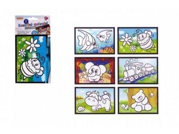 Kouzelné malování vodou asst 6 druhů na kartě 11x21cm 18ks v boxu