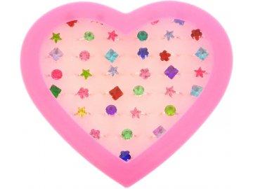 Prstýnek s kamínkem dětská bižuterie různé druhy a barvy