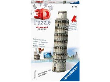 RAVENSBURGER Puzzle 3D Mini budova Šikmá věž v Pise 54 dílků plast