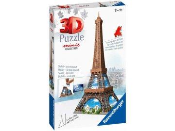 RAVENSBURGER Puzzle 3D Mini budova Eiffelova věž 54 dílků plast