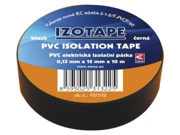 Páska izolační PVC 15/10m černá EMOS