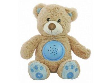 Plyšový medvídek s projektorem BM - modrý