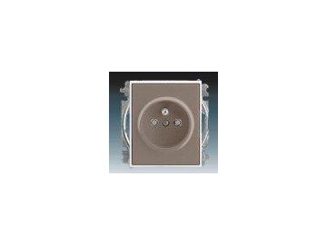 Zásuvka jednonásobná s clonkami - lungo/mléčná bílá 5519E-A02357 26