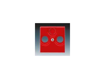 Kryt zásuvky televizní, rozhlasové a satelitní - červená 5011H-A00300 65