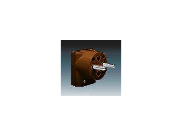 Vidlice dvojpólová s ochranným kontaktem - hnědá 5536-2159 H1