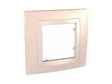 Krycí rámeček kompletní jednonásobný - Cream/Marfil MGU2.002.559 Unica Basic