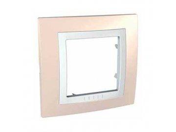 Krycí rámeček kompletní jednonásobný - Cream/Polar MGU2.002.859 Unica Basic