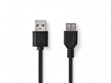 Kabel NEDIS 1x USB 2.0 A konektor - 1x USB 2.0 A zdířka 1m