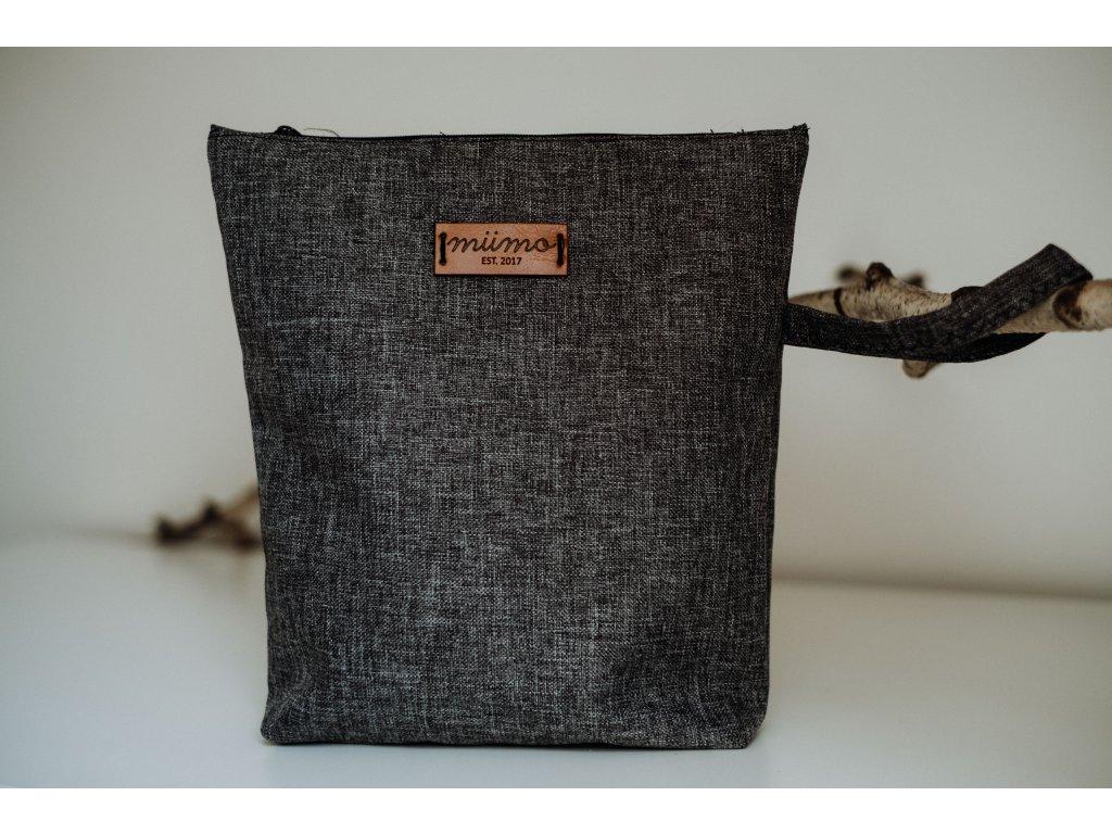 Pytlík na oblečení šedý žíhaný