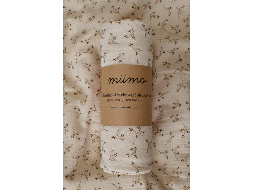 Mušelínová deka - krémová