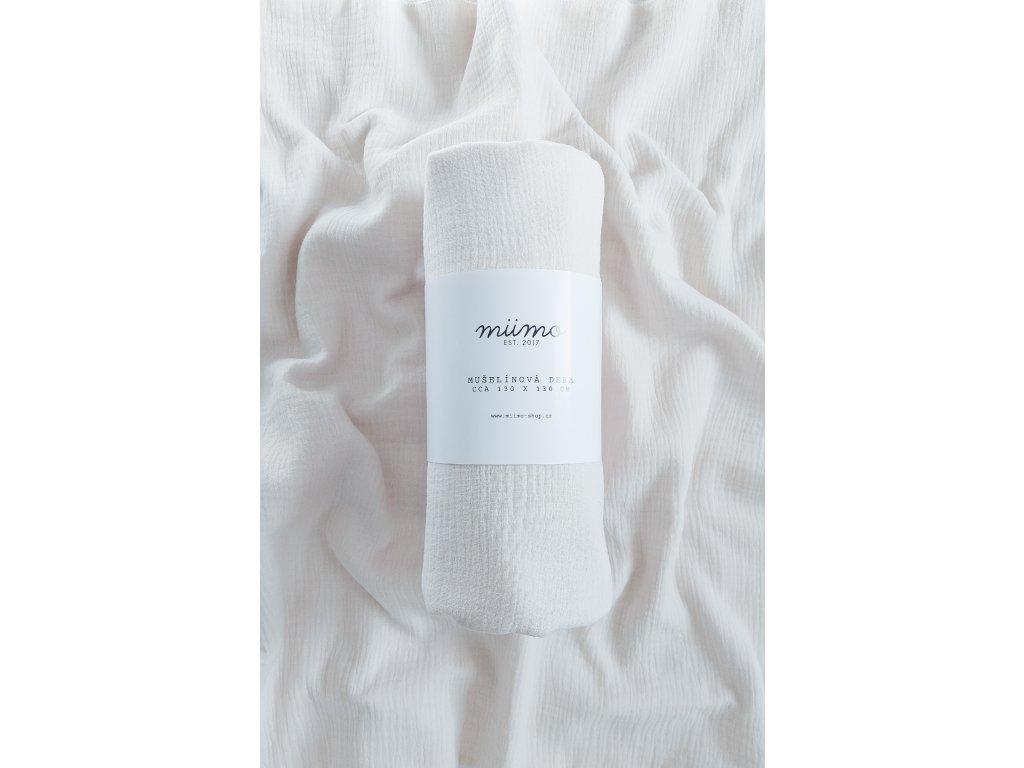 Mušelínová deka - kytičky