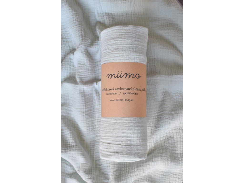 Mušelínová deka - jemná mint