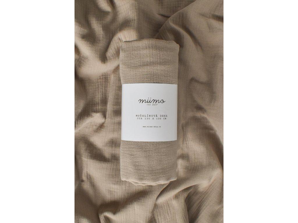 Mušelínová deka - louka