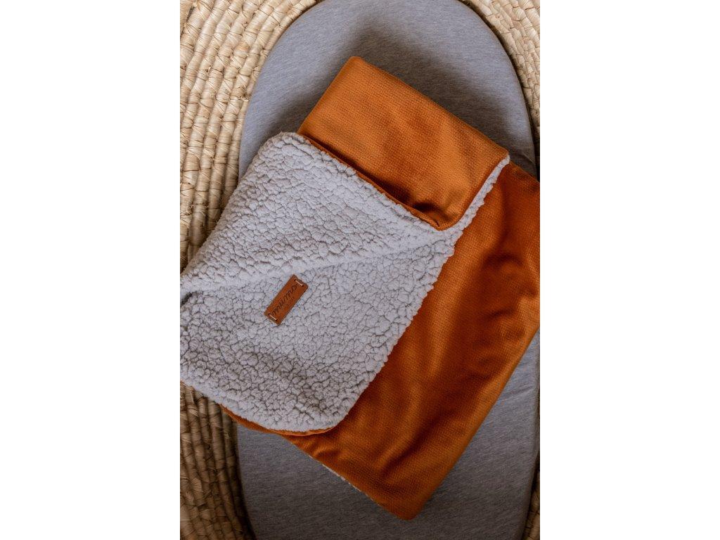 Beránková deka cihlová