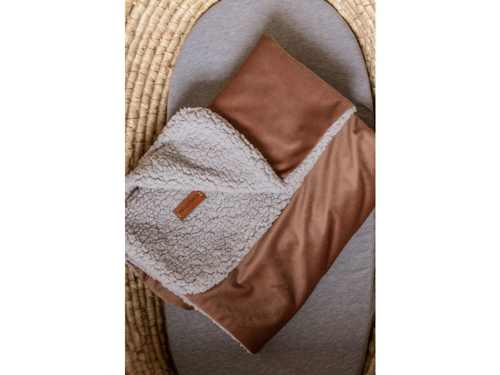 Beránková deka oříšková