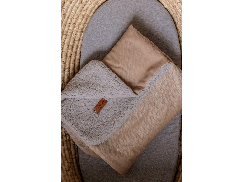 Beránková deka béžová