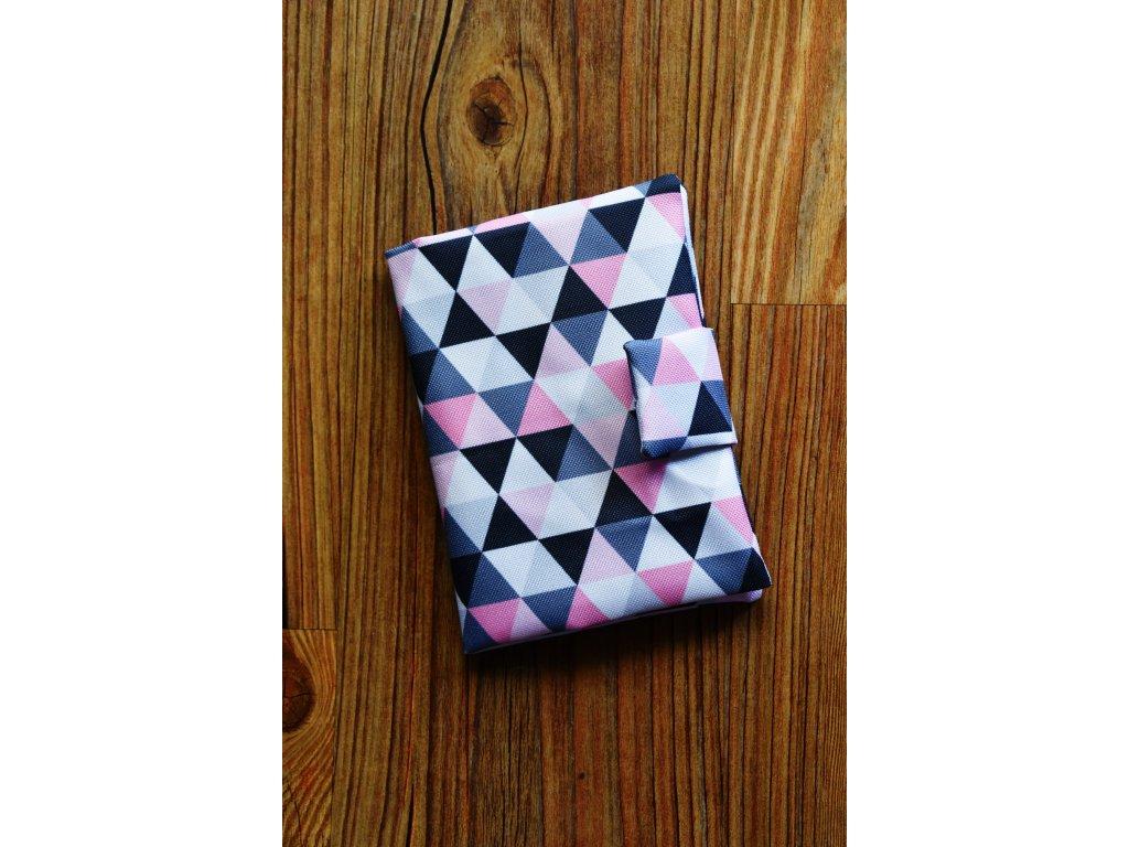 Obal růžové trojúhelníky