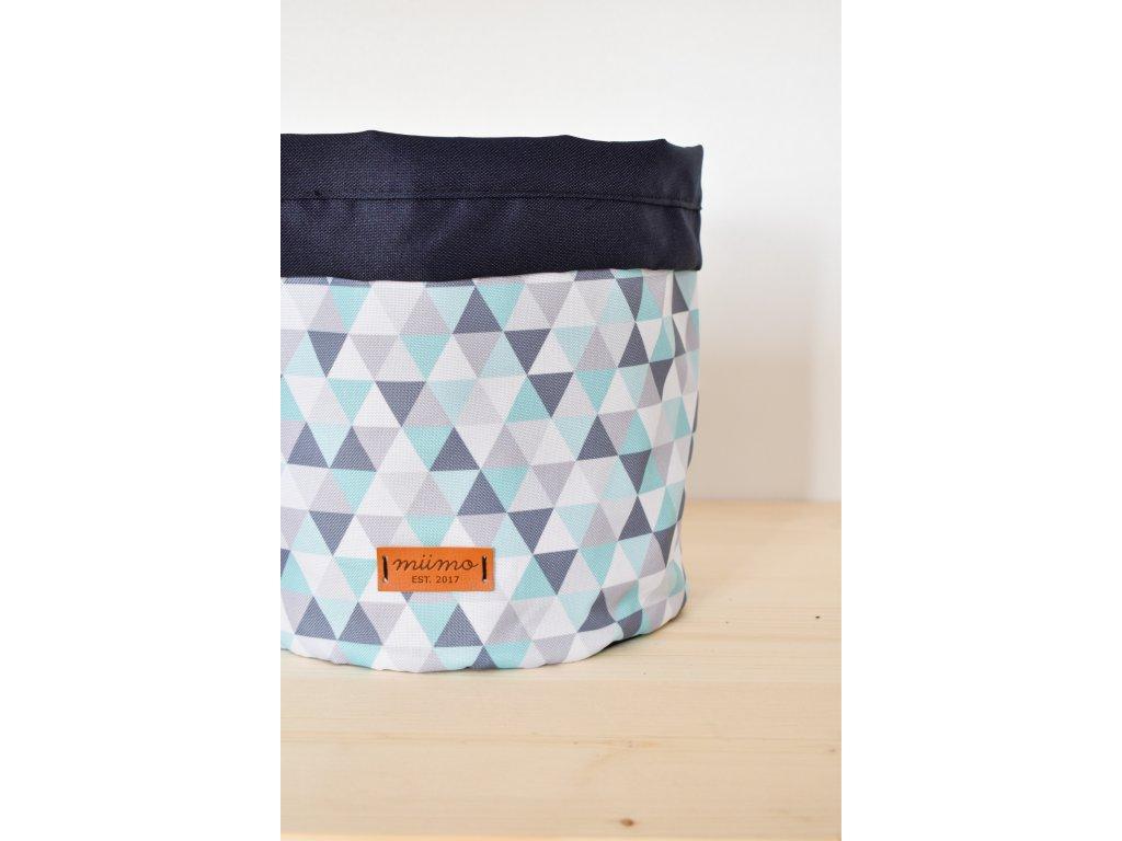 Taška tyrkysové trojúhelníky