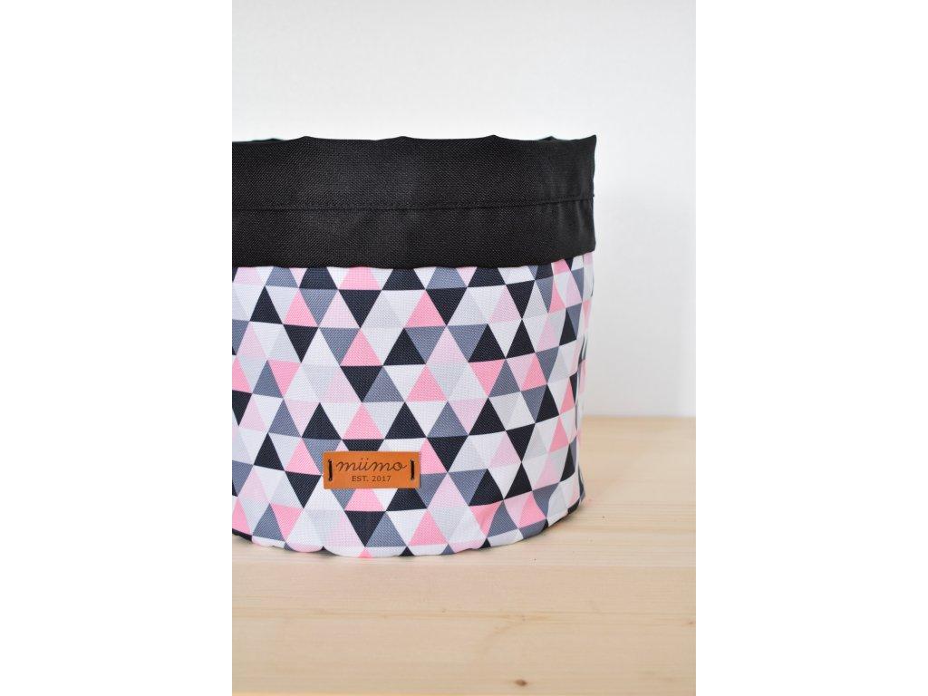 Taška růžové trojúhelníky