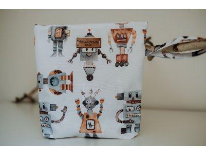 Pytlík na oblečení roboti