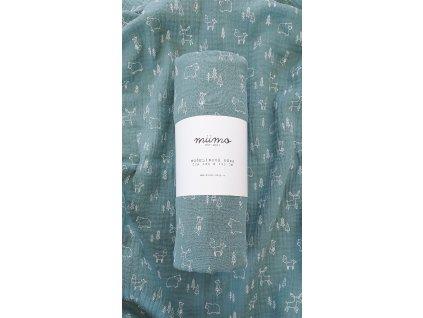 Mušelínová deka - květy