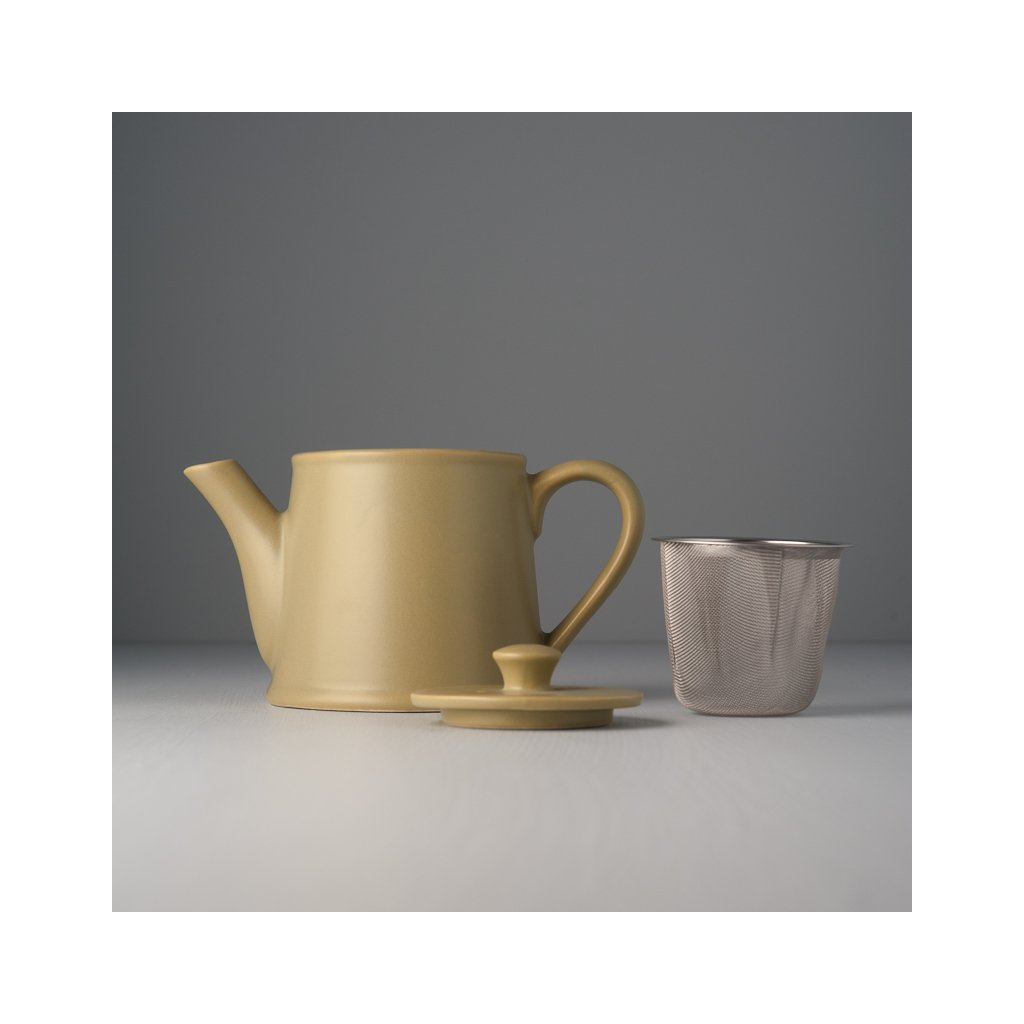 Teapot with Strainer, TEACUP, pistachio