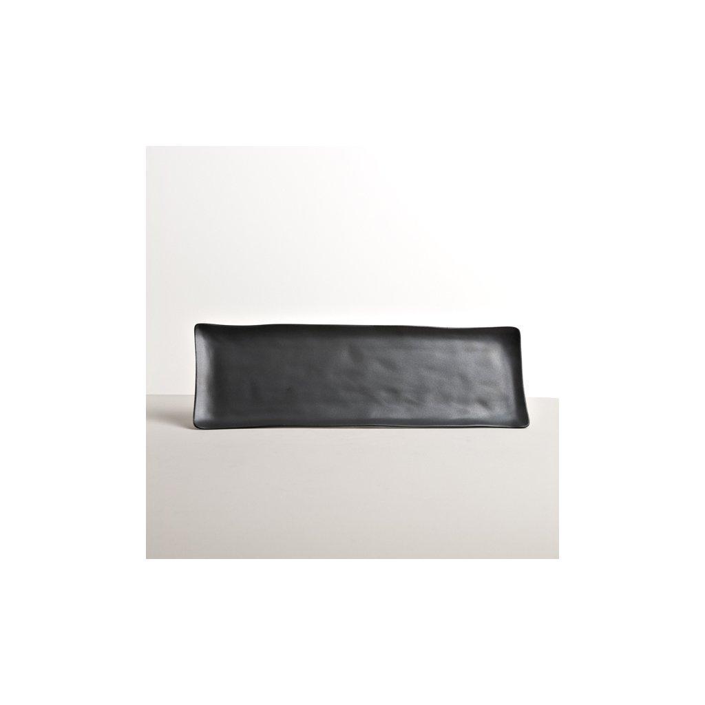 Black sashimi plate MODERN 33 x 11 cm