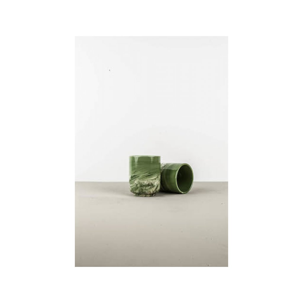 Mug without Handle, marble green