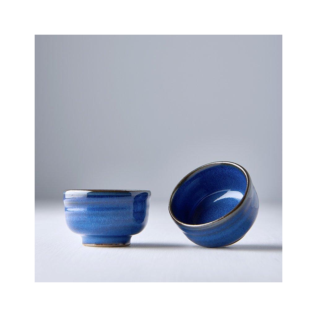 Sake cup, blue