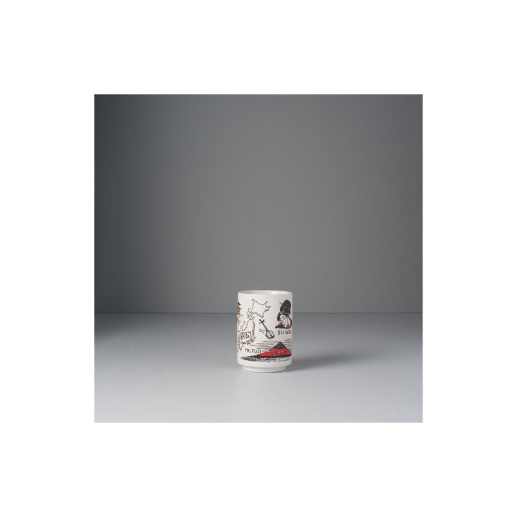 Mug with motif of travelling around Japan, Mug Sushi
