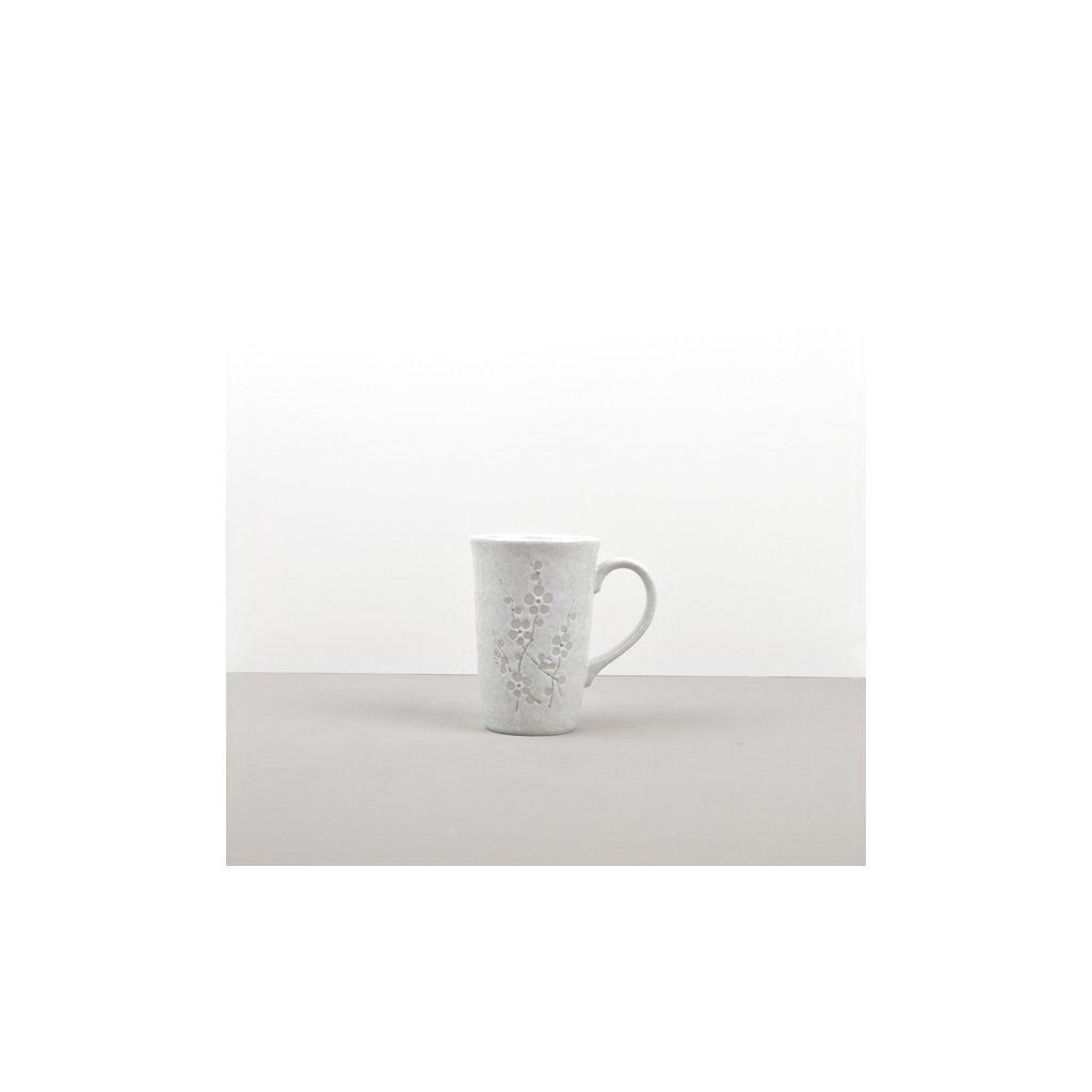 Mug with Flower pattern, WHITE BLOSSOM
