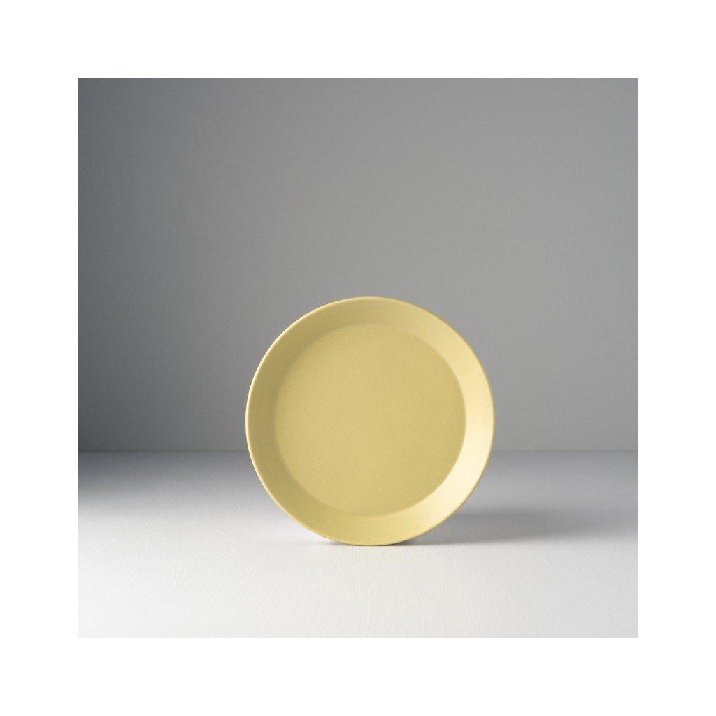 Round Plate 16 x 2 cm, pistachio