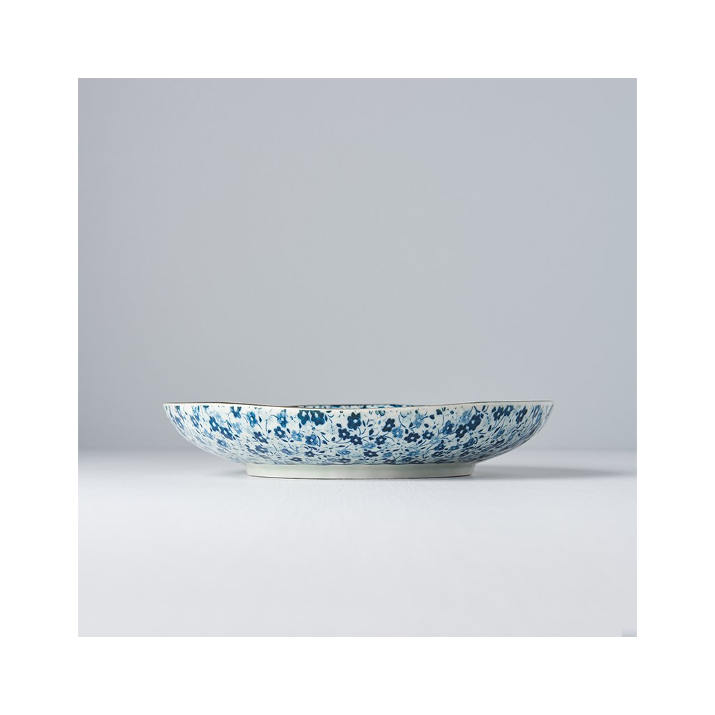 Round Plate Blue Daisy 23 cm