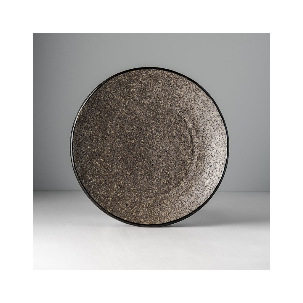 Round plate Earth Black 24 cm