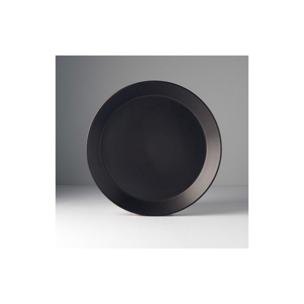 Round Plate MT black 26 x 3 cm