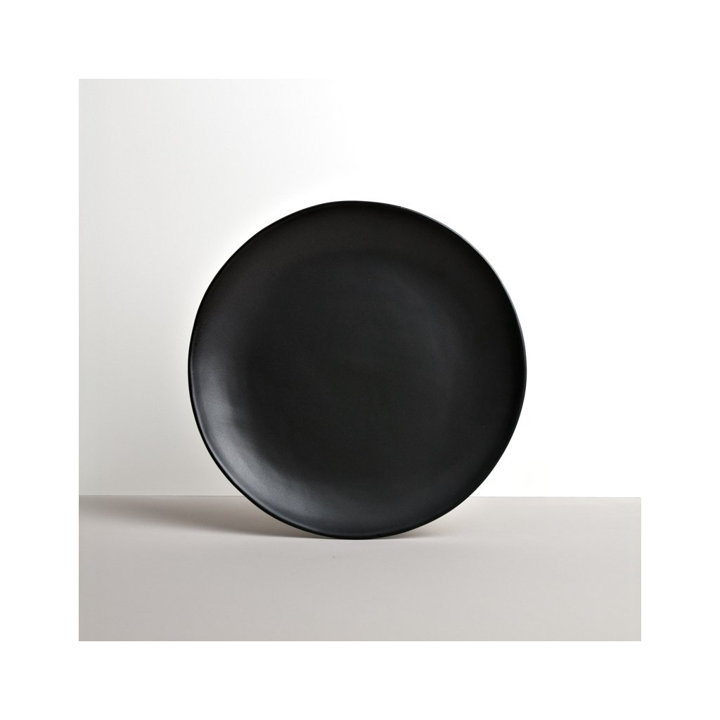 Round Plate with Patchy Edge MT black 24 cm