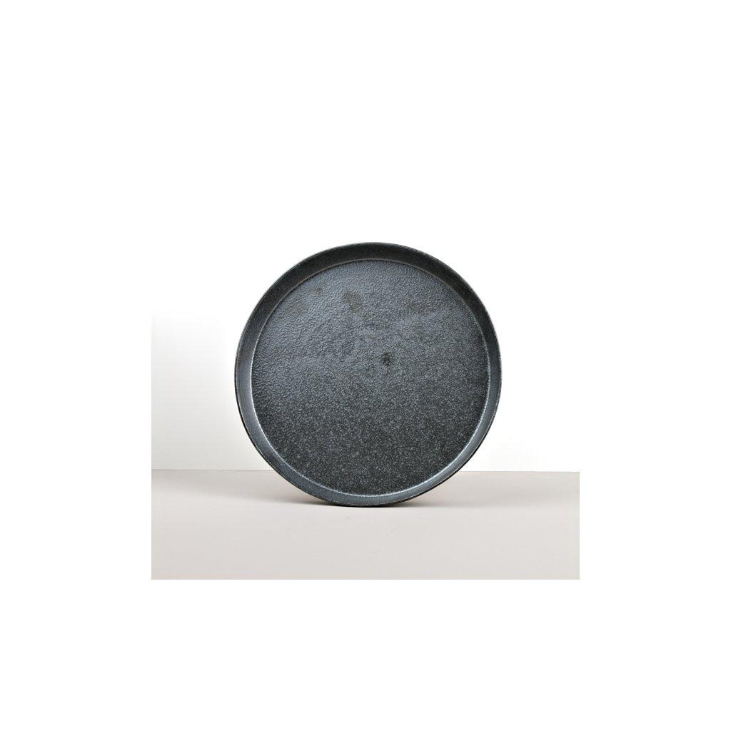 Round Plate with High Edge CRAFT BLACK 25 cm