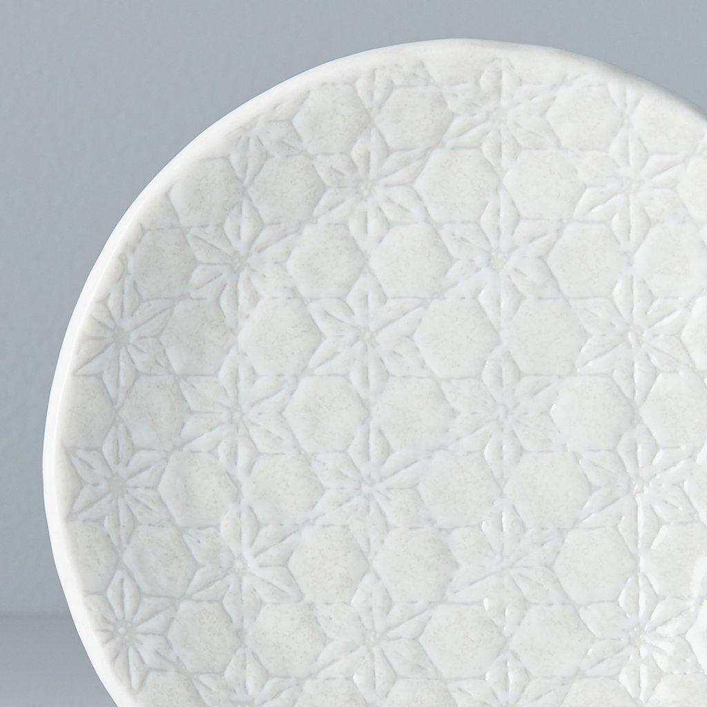 White Round Plate, White Star, 13 cm