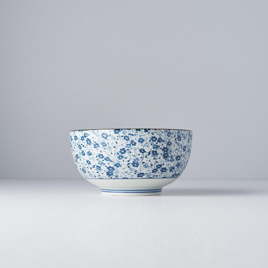Udon Bowl Blue Daisy 16 × 8,5 cm