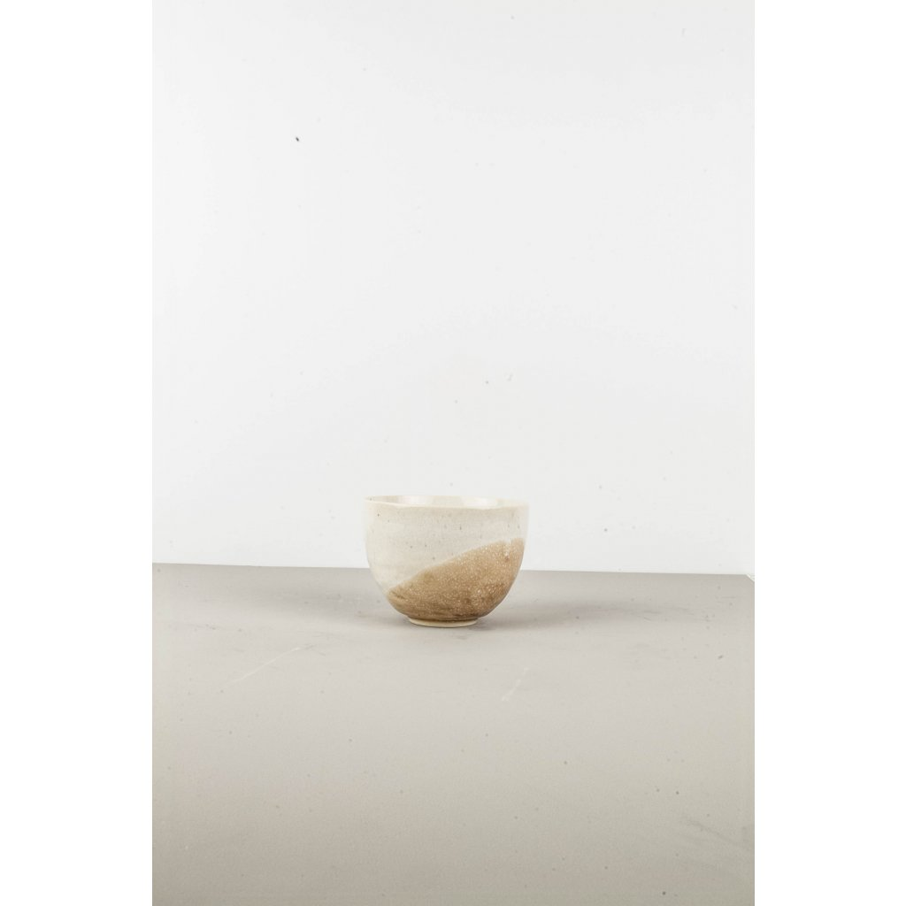Bowl for Rice, 10 x 6 cm, white and beige