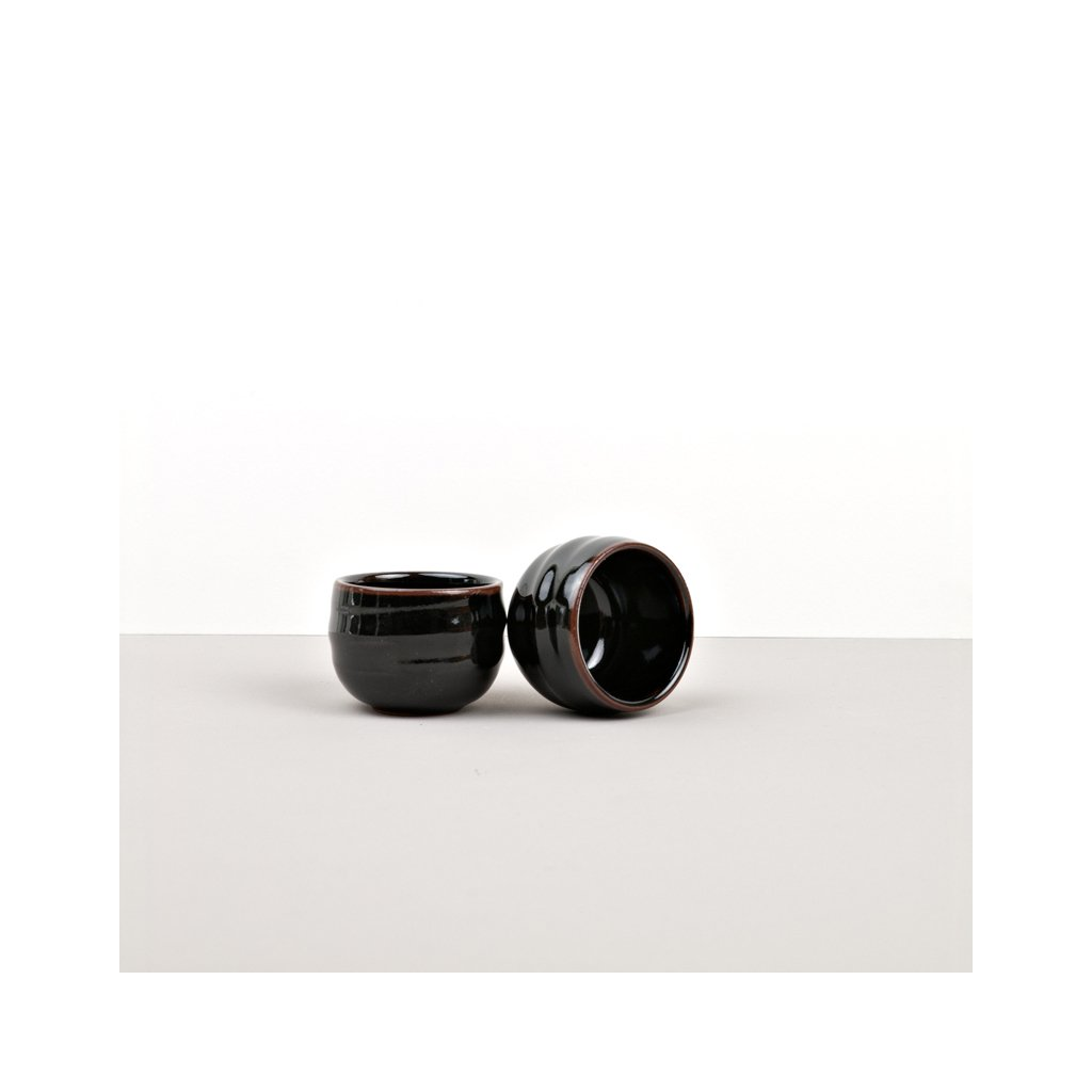 Sake Cup, Sake Cup, black and brown