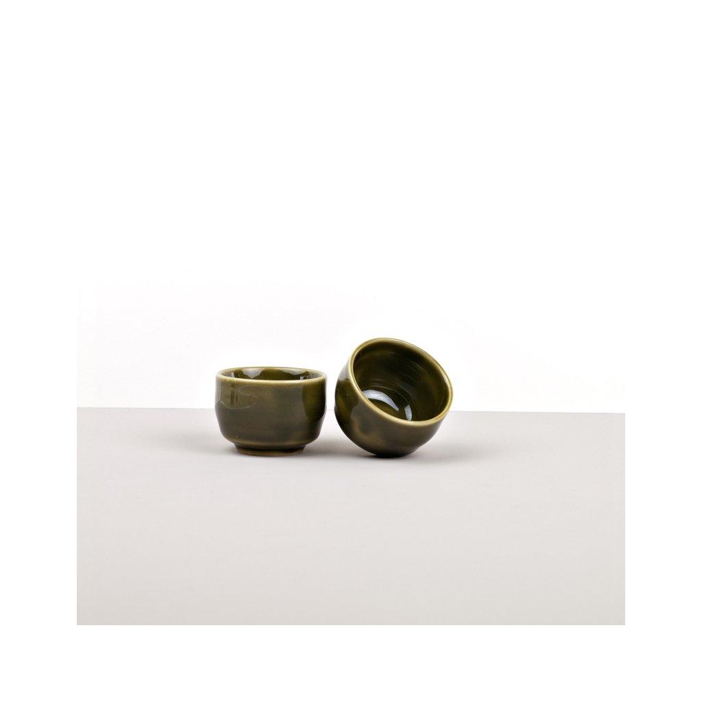 Sake Cup, Sake Cup, small, green