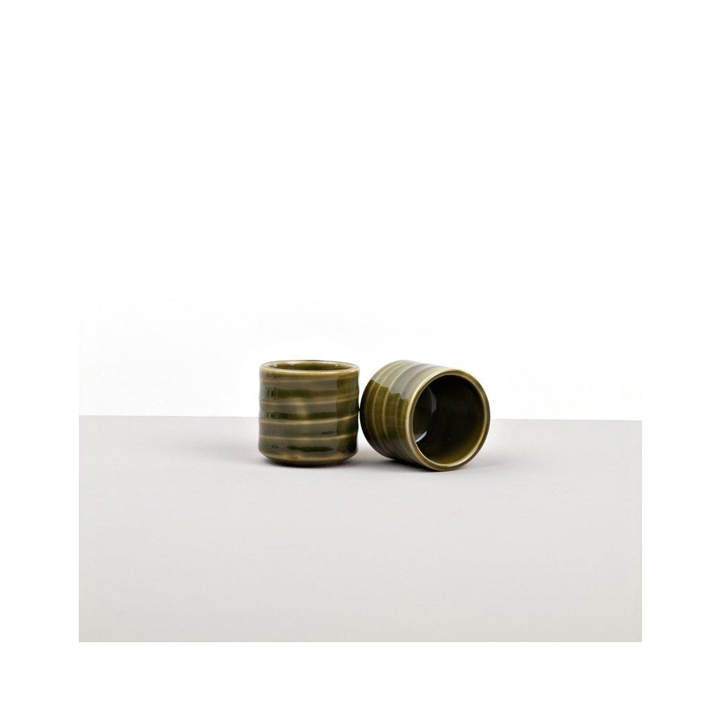 Sake Cup, Sake Cup, tall, green