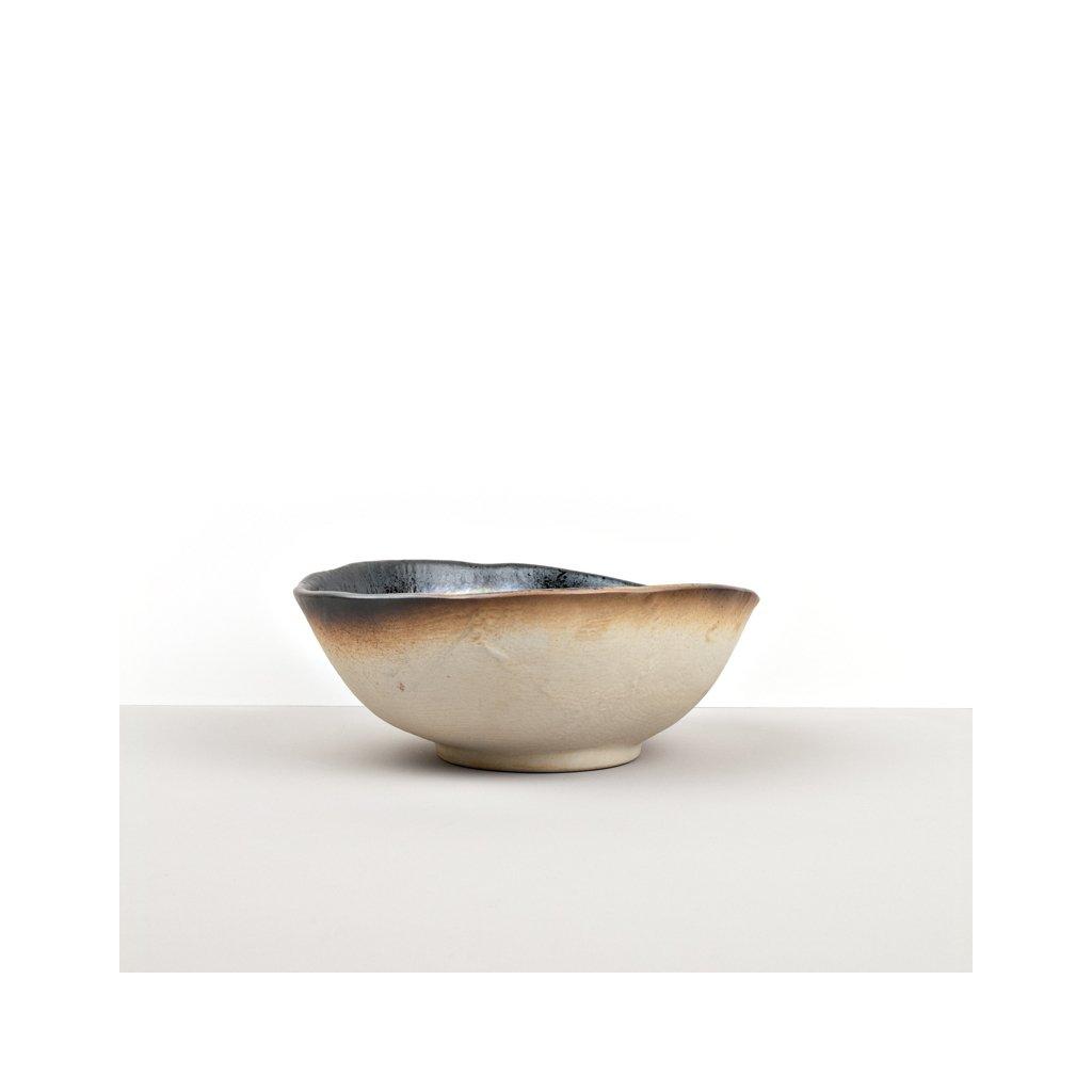 Bowl with Patchy Edge COBALT BLUE 24 x 20 x 9 cm