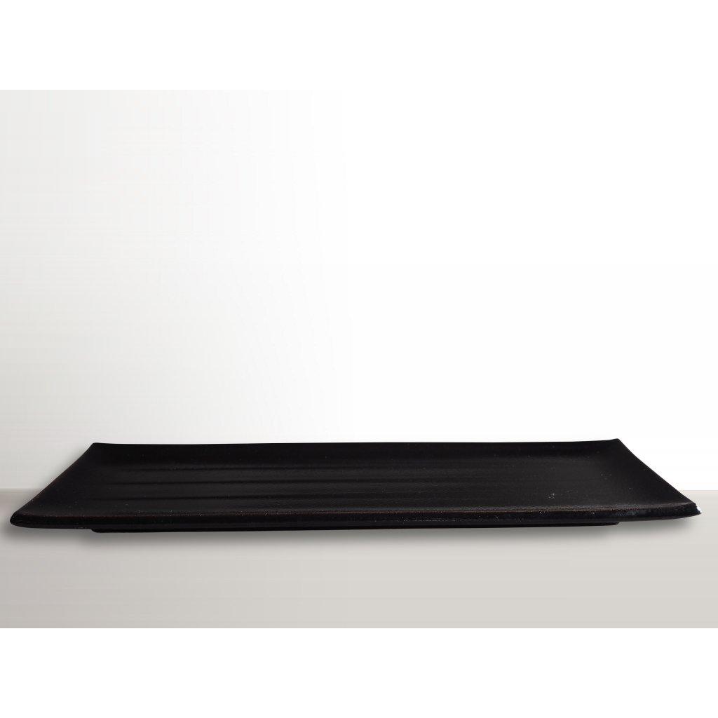 Rectangular Plate 39,5 x 12 cm black